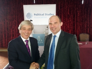 Roy Beggs with John Bercow MP