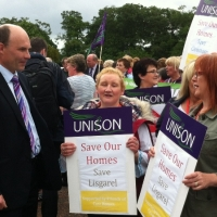 Roy Campaigning to save Lisgarel Care Home