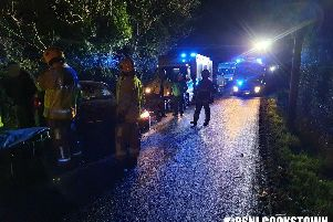 A picture of the accident scene taken by the PSNI.