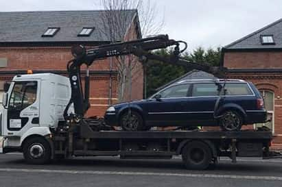 A number of cars were seized during the operation.