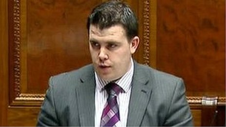 Phil Flangan has been banned from speaking in the NI Assembly