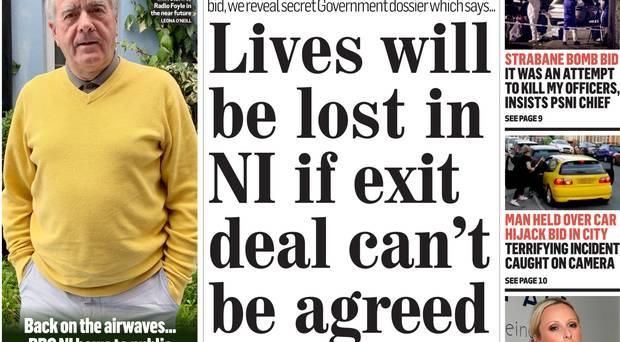 Monday's Belfast Telegraph story