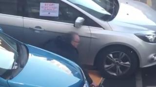 Gerry Kelly was filmed removing the clamp