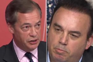 Nigel Farage debated the World Trade Organisation with Northampton resident Dean Parnell