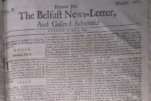 The Belfast News Letter of August 3 1739 (August 14 in the modern calendar)
