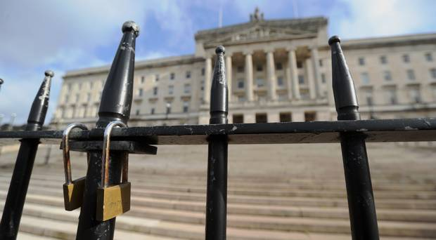 Locked gates at Stormont in Belfast (Niall Carson/PA)