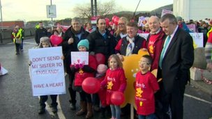 Rally to retain children's heart services in Northern Ireland