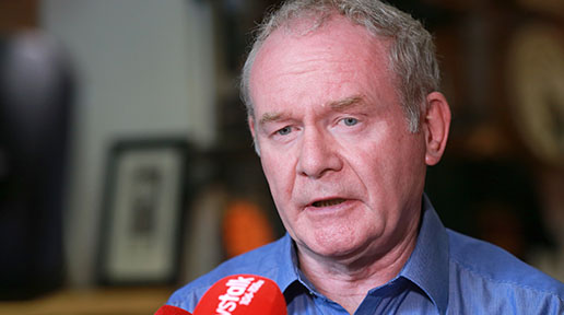McGuinness is concerned about the upcoming budget to be announced in London.