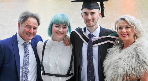 Graduating from Ulster University today 05/07/18 at the Waterfront Hall is Liam LeStrange with a degree in Software EngineeringLiam is pictured with Paul, Lauren and Rosemary LeStrangePhoto by Simon Graham Photography