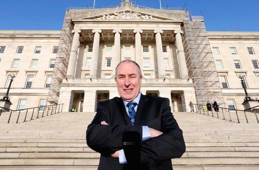 New role: Sinn Fein's Mitchel McLaughlin outside Stormont after his election to the post of Speaker of the Assembly