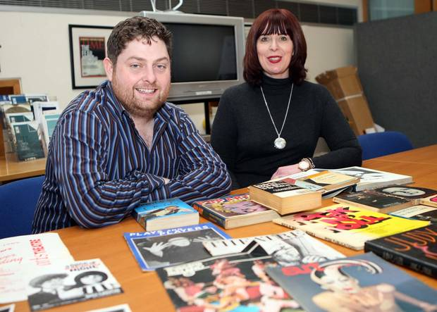 Amazing collection: Gerard McCabe, of Pintsized Productions, and Julie Andrews, Linenhall Library director, who are organising the events
