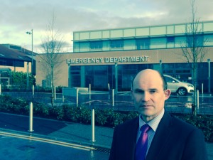 Roy Beggs MLA outside Antrim Hospital