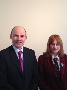 Roy Beggs MLA with Sara Patterson