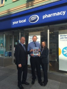 Mr Beggs meeting with Rory O'Neill and Marie Smith at Boots, Carrickfergus