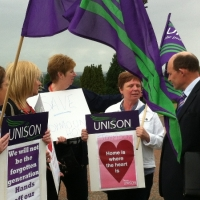 Roy Campaigning to save Care Homes