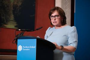 Diane Dodds said her department had paid out £340 million across its business support schemes (Kelvin Boyes/Press Eye/PA)